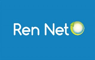 REN-NET LOGO ON BLUE
